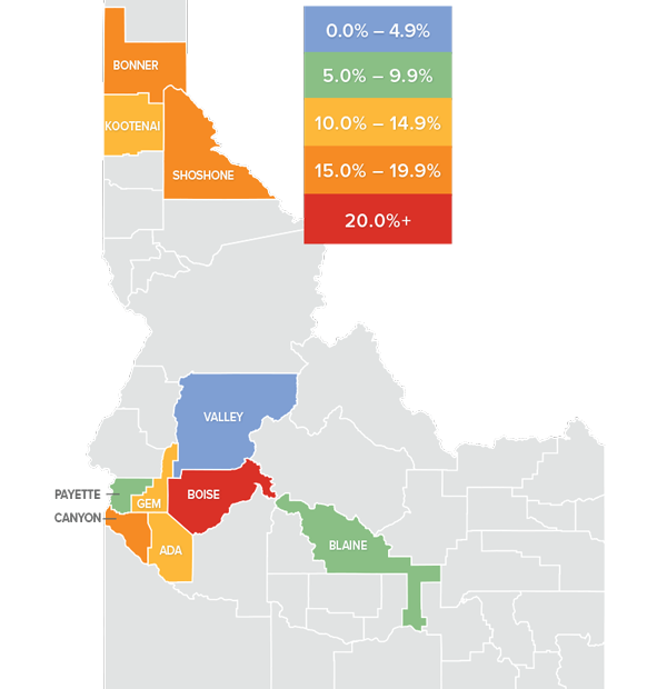 Idaho Home Prices Map